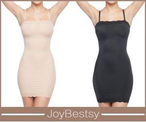 Joybestsy Womens bonita Corpo Inteiro Deslizamento Shaper Emagrecimento Deslizamentos com guarnição do laço