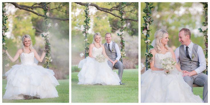 Love the swing for the bridal portraits. So pretty! Braeside Chapel #poppylanephoto