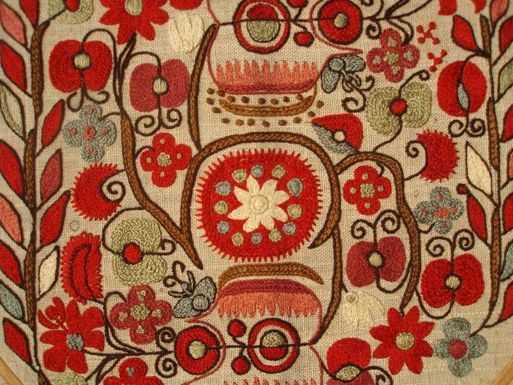 Motif from Dupnitsa,woman chemise sleeve, embroidered by Todorka Grigogrova.