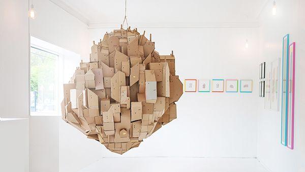 About 2 meters in diameter.Exhibited at ArtRebels Gallery, Copenhagen.