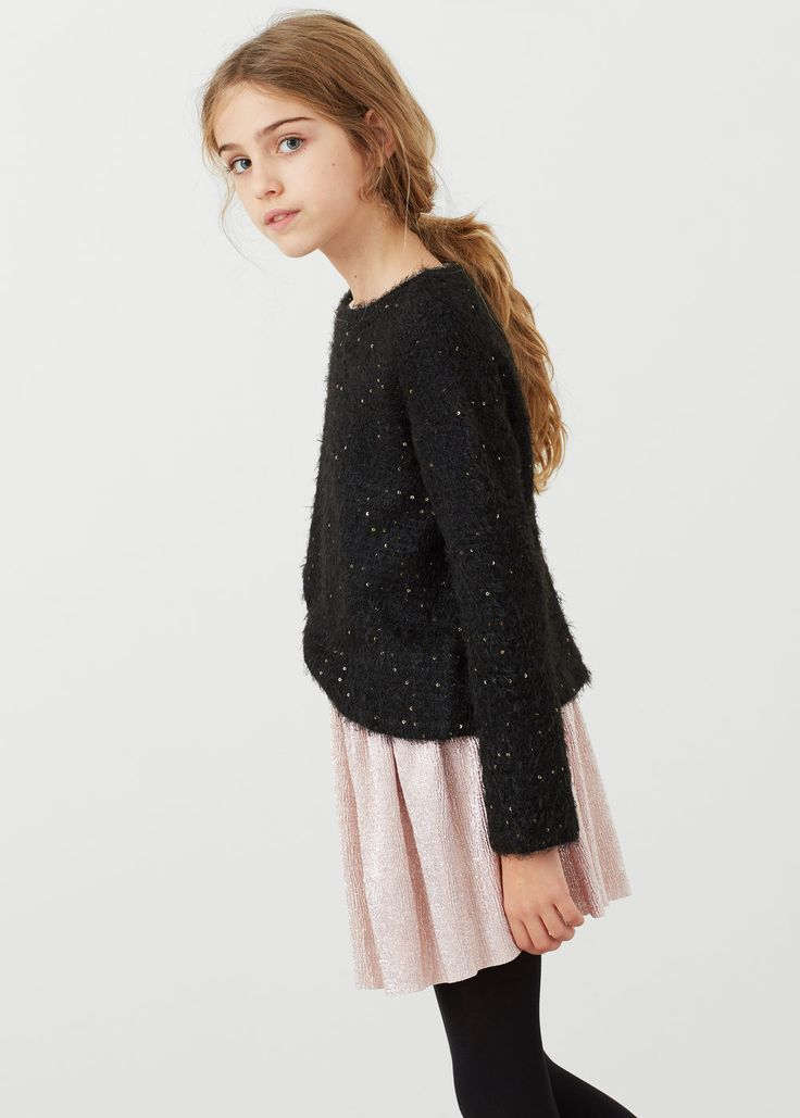 Μεταλλιζέ φούστα | MANGO KIDS