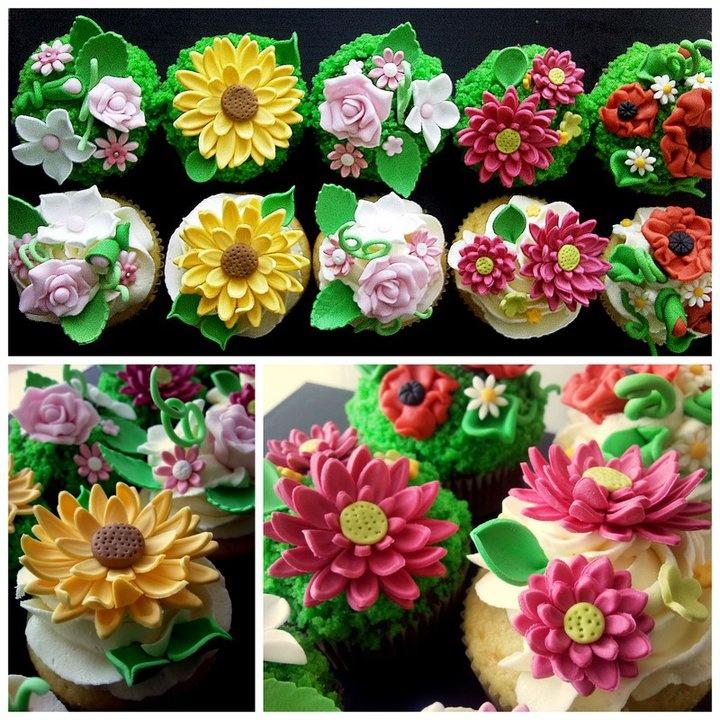 #spring #cupcakes #flowers