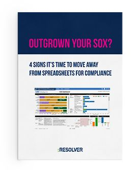 Outgrown your #SOX? 4 signs it's time to move away from spreadsheets for #compliance http://www.resolver.com/resource/outgrown-your-sox/