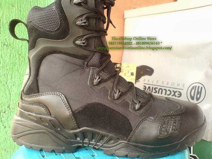 Sepatu Magnum Spider Hitam Black   Import Cina  Label Made In USA Fabrique en China   Harga  Sepatu Magn...