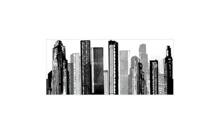 Roommates Decor Cityscape Giant Wall Decal