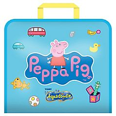 Aquadoodle's Peppa Pig Doodle Bag is perfect for keeping kids entertained on the go, with none of the mess you normally associate with paints, pens or watercolours! The secret's in the mat. Simply fill your Aquadoodle pen with ordinary tap water, run the nib over the magic mat and see the colour appear! Any water that does run off the mat, runs clear. No mess, no stains, nothing to worry about. As the drawing dries, designs fade away, ready for the mat to be used all over again.