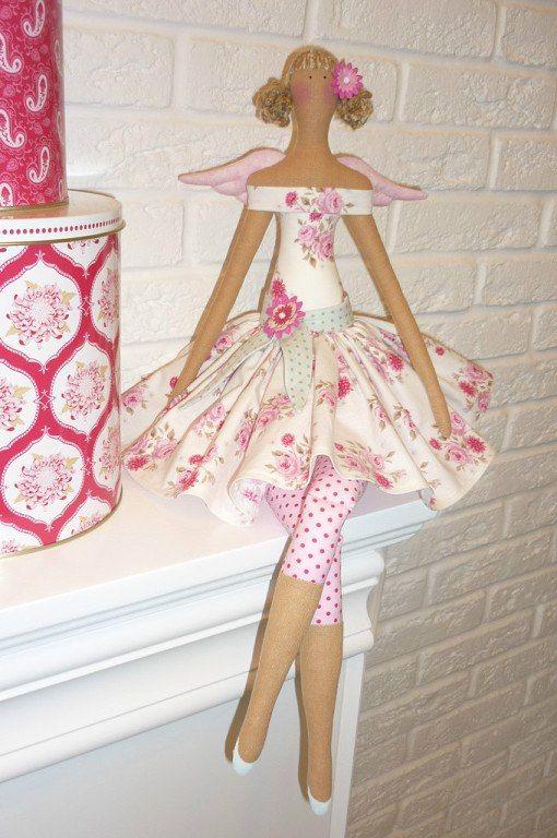 Pretty Floral Tilda Doll