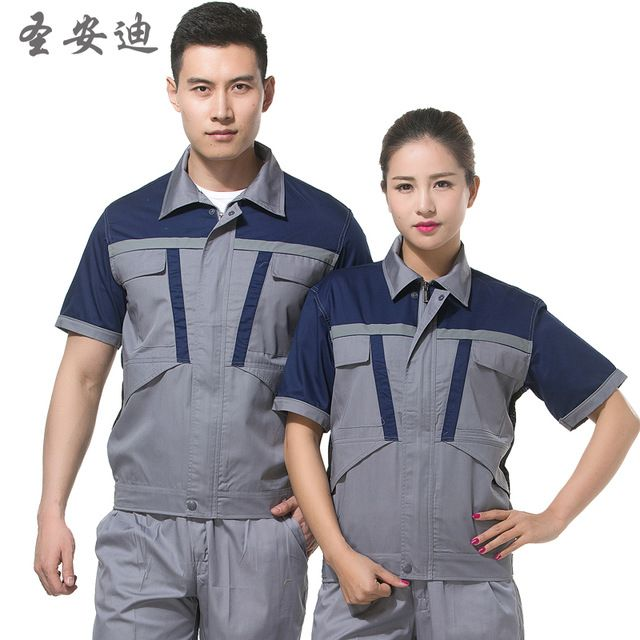 short-sleeve summer work wear set male and female plant work clothes set protective clothing Farm uniforms