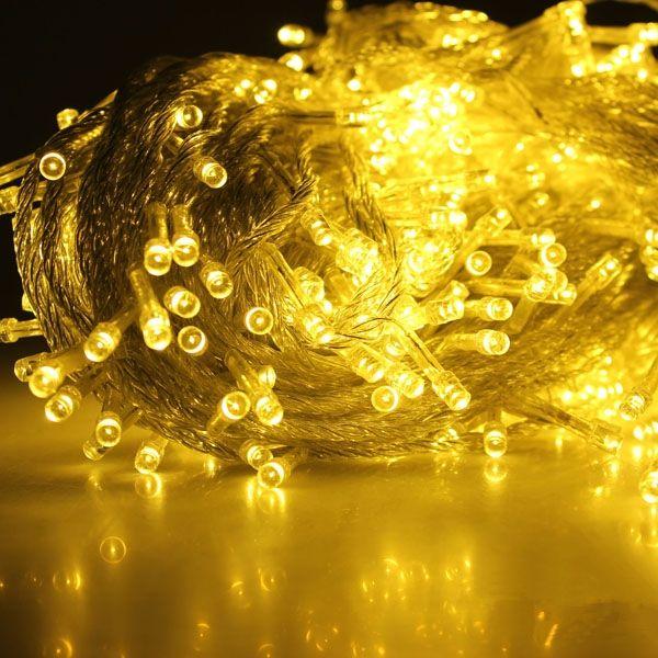 blanco cálido 50m 500 iluminación led cadena hada de boda luces de navidad al aire libre brilla decoración ue/luces del árbol nos enchufe en Cadenas de LEDs de Iluminación en AliExpress.com | Alibaba Group