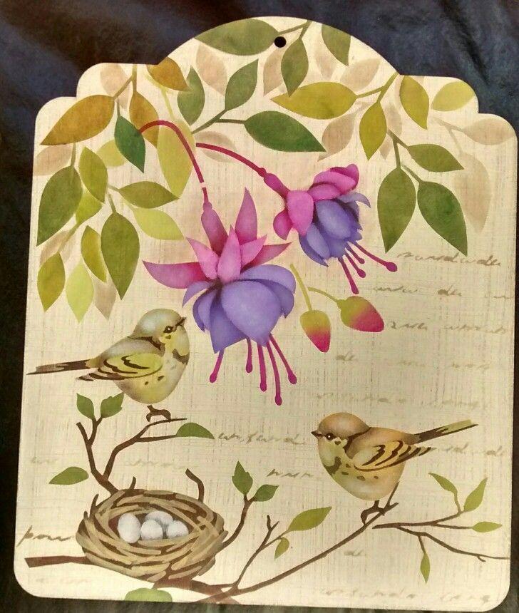 Placa confeccionada com estencil. Inspirada nas obras de Mayumi Takushi e executada por Denise Gomes Machado.