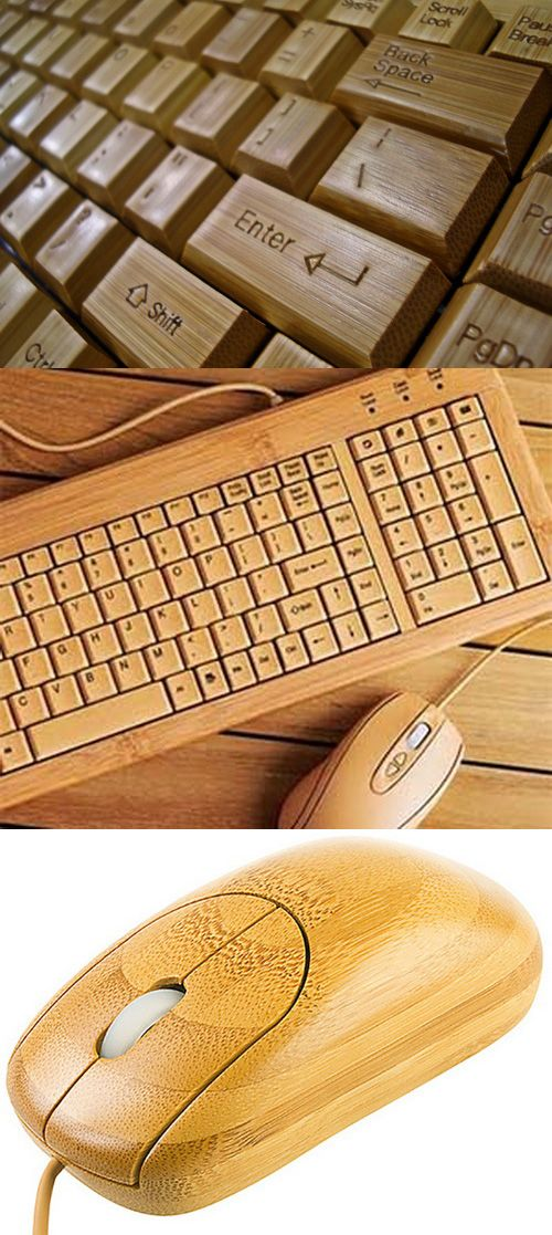 Handmade Bamboo Keyboard & Mouse: Eco-friendly Cool #bambookeyboard #bamboomouse