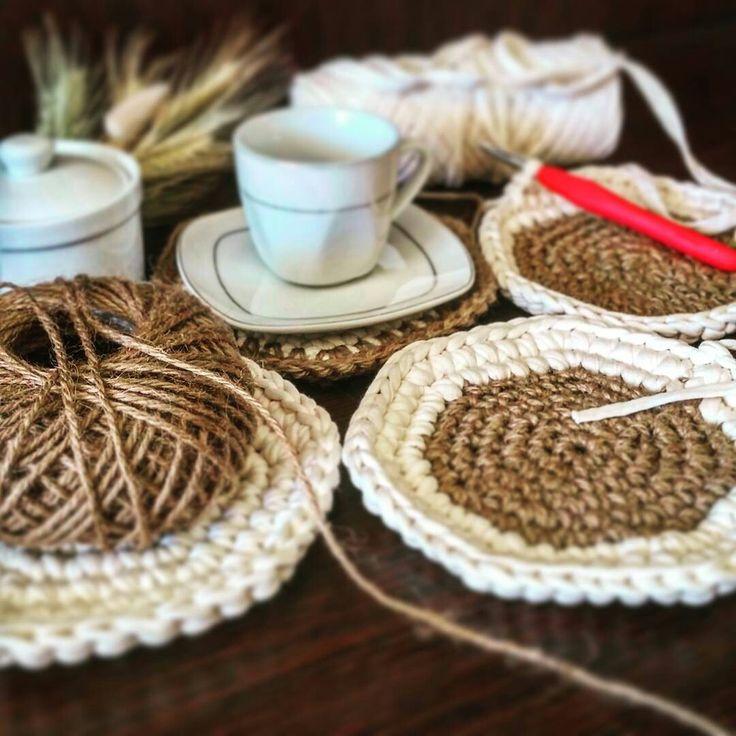 Crochets fettuccia~spago multiuso. Handmade Giovanna Demurtas