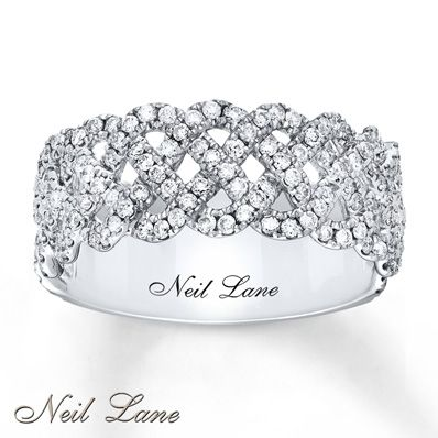 Neil Lane Ring 3/4 ct tw Diamonds 14K White Gold - Looks much different in person, but is still absolutely gorgeous!