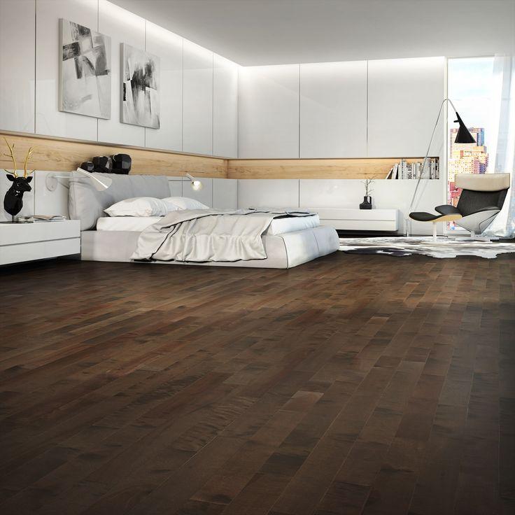 Prefinished hardwood flooring Plancher de bois franc pré verni Yellow Birch, Volcano Dust  # Plancher Bois Franc