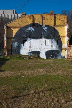98273   Franz Kafka themed graffiti Zizkov district Prague Czech Republic Europe