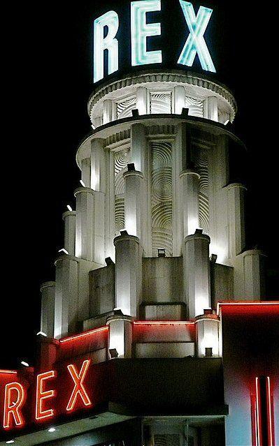 Le Grand Rex à Paris de style Art Deco                                                                                                                                                                                 Plus