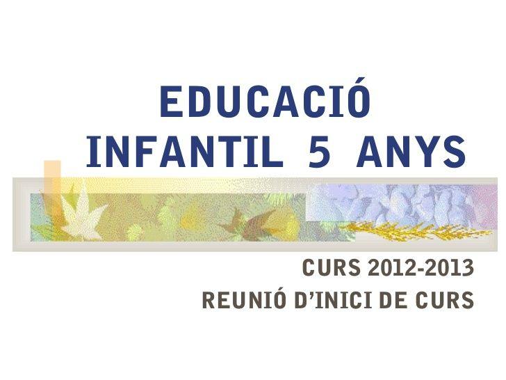 Reunió pares P5 2012-13