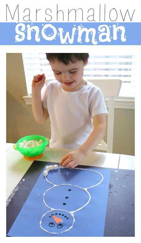 Count , glue , and make a super cute snowman craft. Lots of other great snowman crafts too!