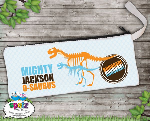 Dinosaurs Rock - Personalised Pencil Case