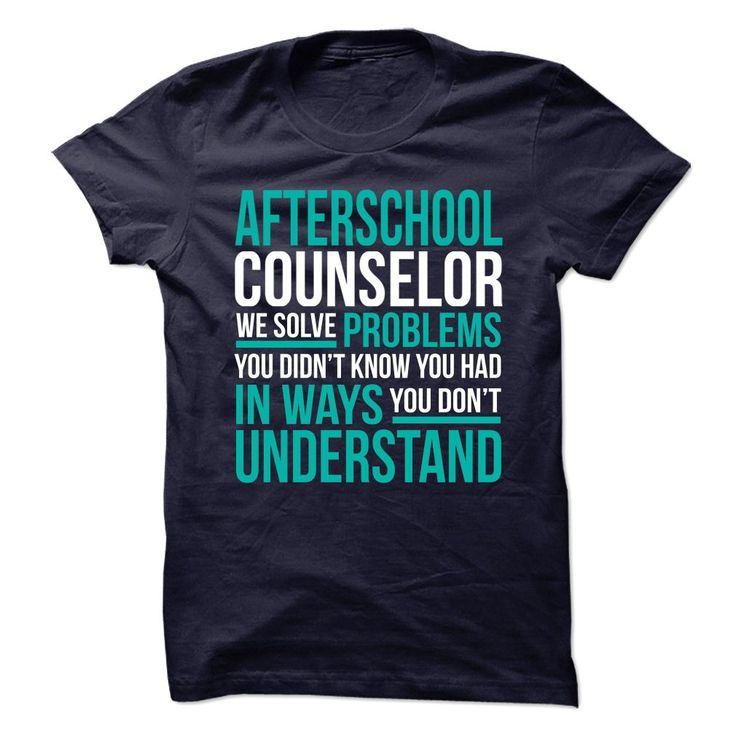 AFTERSCHOOL COUNSELOR - I SOLVE 【ᗑ】 PROBLEMS 1***How to order? 1. Select color 2. Click the ADD TO CART button 3. Select your Preferred Size Quantity and Color 4. CHECKOUT! If you want more awesome tees, you can use the SEARCH BOX and find your favorite !!AFTERSCHOOL COUNSELOR