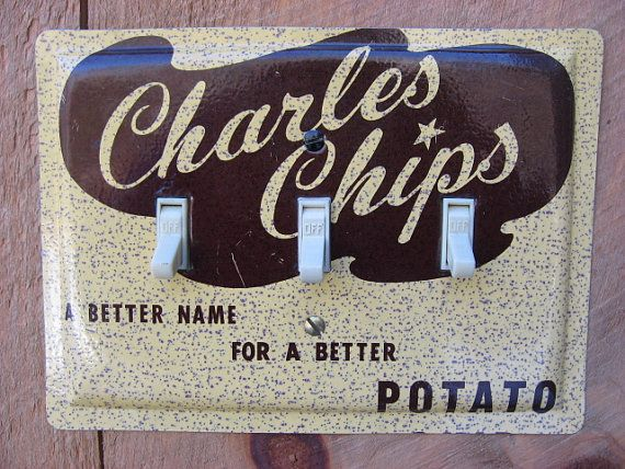 Triple Light Switch Cover Switchplate Made From An Old Charles Chips Tin 3 Toggle Vintage Decor TP-4053 on Etsy, $36.00