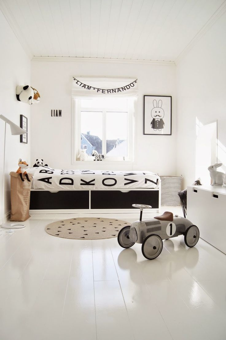 232 best Monochrome Kids Spaces images on Pinterest | Baby rooms ...