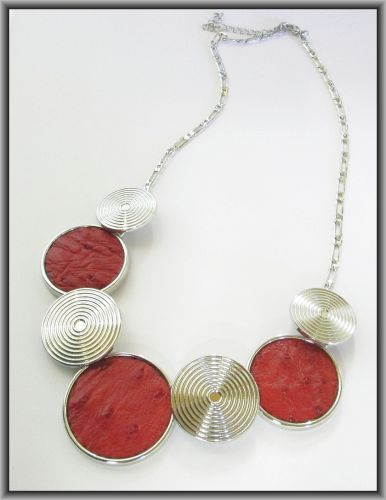 Ostrich Leather Necklaces - Flame Red ON3R1 | Products Offered | Auldco African Handcraft
