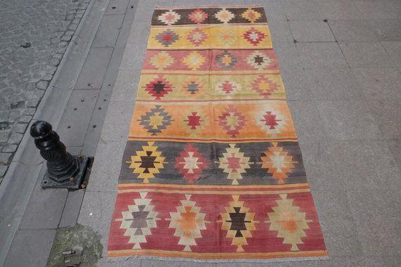 4 x 9 feetHandwoven rugrunner rugkilim runnerarea rug by kilimci