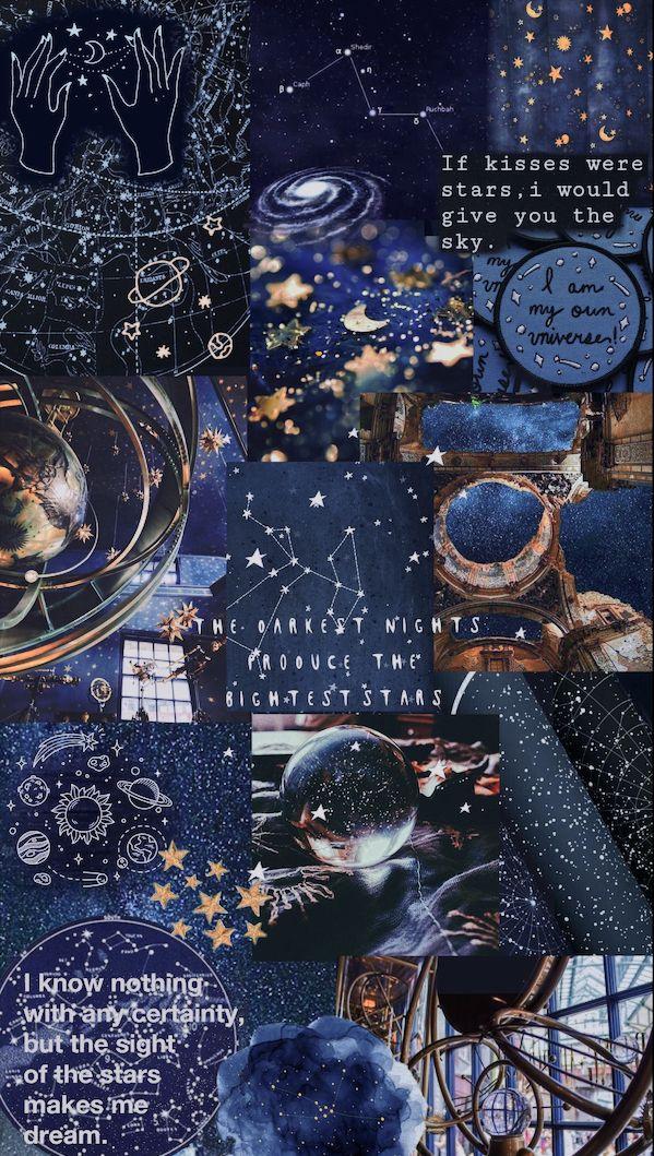 Blue aesthetic stars, universe, wallpaper ᴄɪᴇʟᴏ