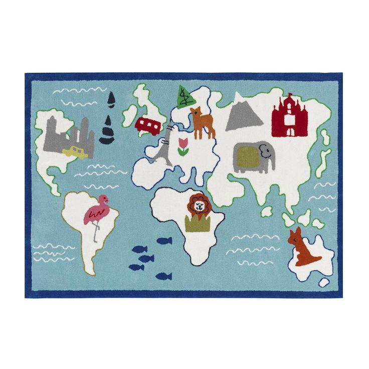 Designers+Guild+Kids,+Around+The+World+Aqua,+Teppe,+Designers+Guild