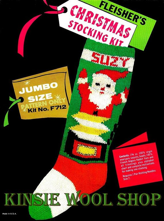 49 best Christmas Stockings images on Pinterest   Knitted christmas ...