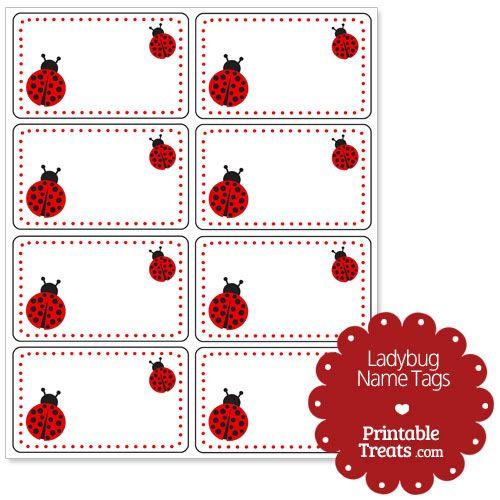 Ladybug Name Tags | Ladybugs | Pinterest | Preschool name ...