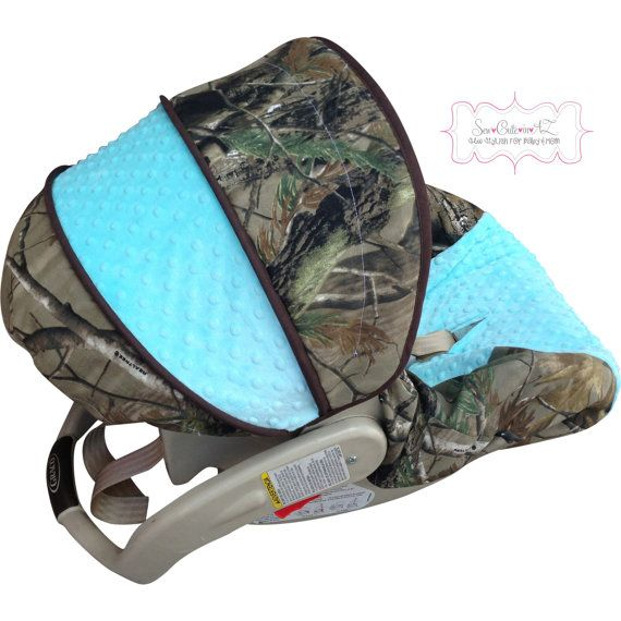 Camo WithTiffany Blue Infant Car Seat Cover By Sewcuteinaz On Etsy 7000