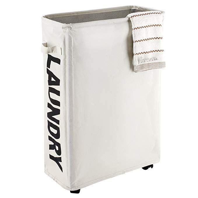 Amazon Com Caroeas 22 Rolling Slim Laundry Basket With Stand