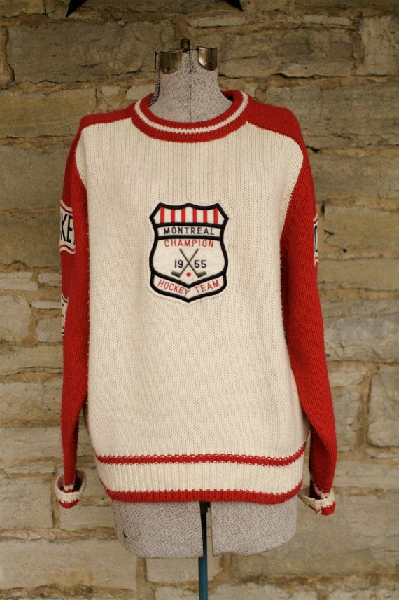 Rare Collector's Canadian 1955 Montreal Hockey by FashionField