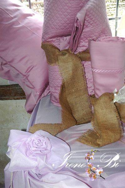 IRENE BI  Lenzuola in lino cotone realizzate su misura www.irenebi.it realizzazione Irene Bi di Irene Brigolin