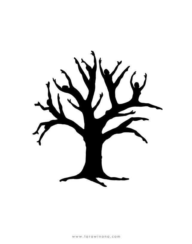 Tree of Life silhouette giclee print £12.00 by Tara Winona