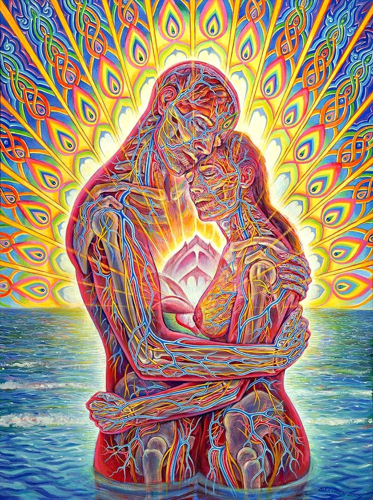 The Present Participle: Ocean of Love Bliss - Alex Grey....it's been one of my favorite pieces since the first time I saw it