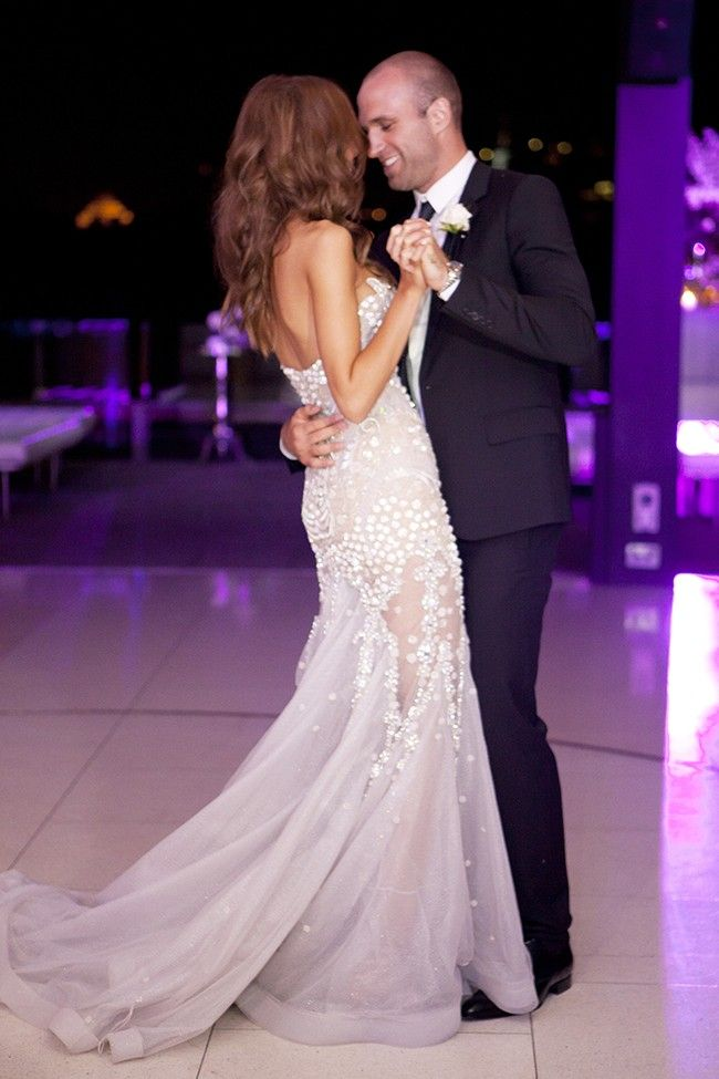 Glittering Nights Bride / Rebecca Judd's J'Aton gown