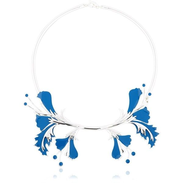 Ek Thongprasert Women Metal Flower Necklace ($670) ❤ liked on Polyvore featuring jewelry, necklaces, ek thongprasert, flower jewellery, flower necklace, flower jewelry and metal jewelry
