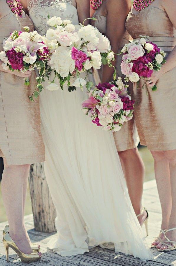 Raspberry Pink Wedding Bouquets