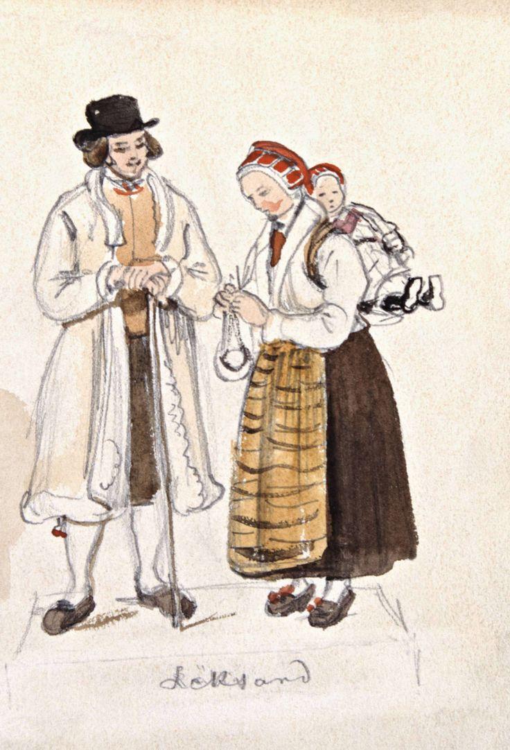 Linda, knyta, bära - från vaggan till graven   Band av olika slag var oumbärliga föremål. De användes både för att hålla ihop, knyta om och bära i, men också som utsmyckning i både kvinno-, mans- och barndräkter.