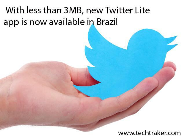 With less than 3MB, new Twitter Lite app is now available in Brazil: Recently Twitter has launched its Lite version for slow or less data usage, company released on Friday, 1/12, in Brazil a new application lighter for Android devices. Which named Twitter Lite, the app is basically made for slow connection so user can experienceMore