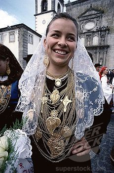 Girl Dressed in Traditional Costume, Ponte de Lima, Portugal