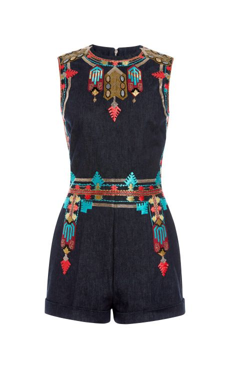 Embroidered Sleeveless Romper by Valentino for Preorder on Moda Operandi  Roll on Summer…….2014