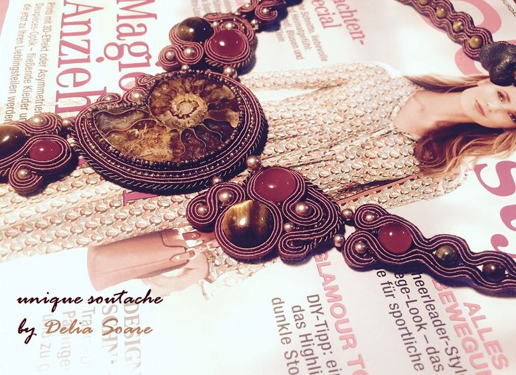 The ammonite collection - unique soutache jewelry by Delia Soare, Romania