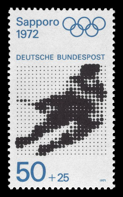German stamp for the Sapporo olympics #Design