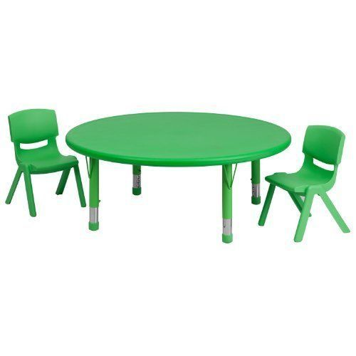 Kids Table And Chairs Set Activity Dining Room Little Party Play Round Plastic #Unbranded