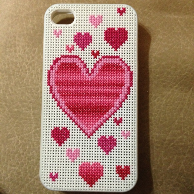 Customized cross stitch iPhone 4 case