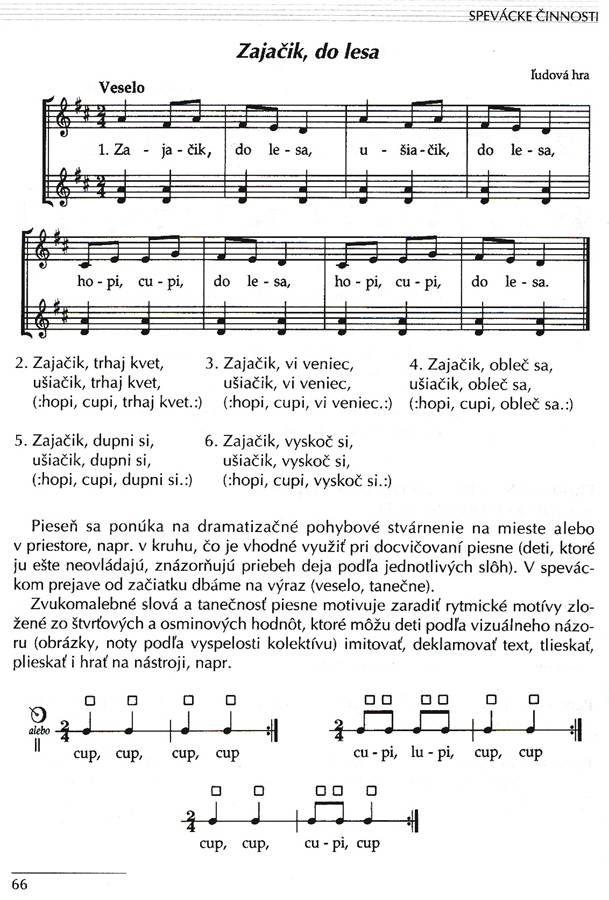 PEPg-pieseň Zajačik - ušiačik (Zajačik do lesa) | doc. PaedDr. Marián Janek, PhD. | Pedagogická fakulta Univerzita Mateja Bela v Banskej Bystrici
